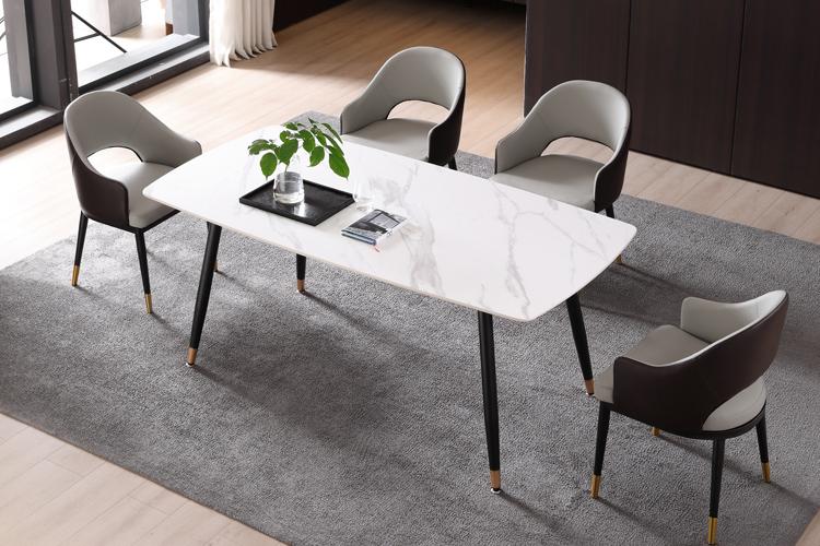 意式极简风格岩板餐桌椅组合批发02